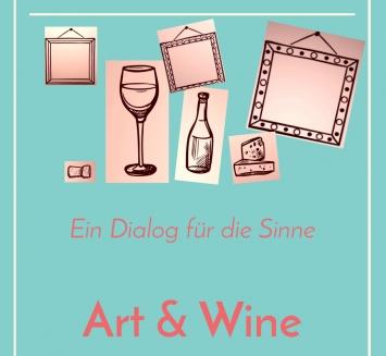 Kunst(Zeug)Haus, Plakat: Art & Wine, 2020