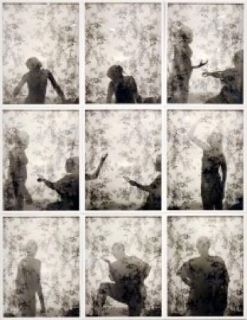 LaToya Ruby Frazier, Momme Silhouettes, 2010, 9 Gelatinesilberdrucke, Private Sammlung, Antwerpen.
