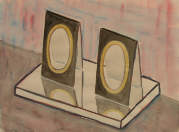 Otto Lehmann, Ohne Titel, 2008, Acryl auf Papier, 24 x 32 cm, Kunstmuseum Olten, Inv. 2013.26