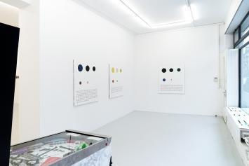 Sebastian Utzni: 17.71% Confetti, Installation view, Lullin + Ferrari, Zurich, 2019