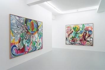 Installationsansicht, Einzelausstellung Klodin Erb, Lullin + Ferrari 2021
