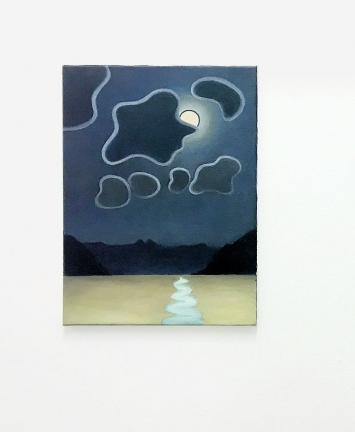 Caroline Bachmann · Pleine lune lac jaune, 2016, Öl auf Leinwand, 40x30cm