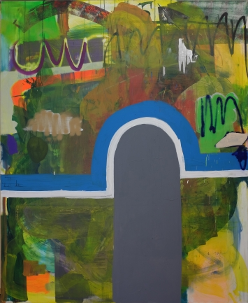 Lipp&Leuthold, Tunnel, 2020, Acryl auf Leinwand, 220 x 180 cm, Courtesy of the artists