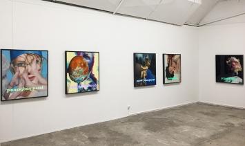 Gildas Coudrais | Serie Lost Parade | 2018 |Malerei hinter Plexiglas, Leuchtkasten | 100 x 100 cm