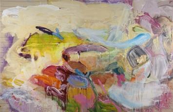 Maria Zgraggen, Ohne Titel, 2018, Acryl auf Leinwand, 240 × 370 cm