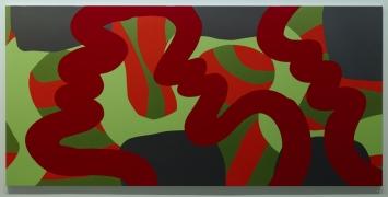 Markus Weggenmann, o.t. (Nr. 321), 2008, Holzglanzlack auf Aluminiumverbandplatte, Sammlung Kunstmuseum Singen,(c) VG Bild-Kunst, Bonn 2019