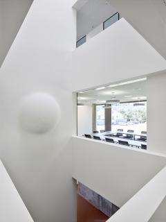 Maude Schneider, Hémisphère, Blick auf erster Etage,Foto: Thomas Jantscher, Colombier