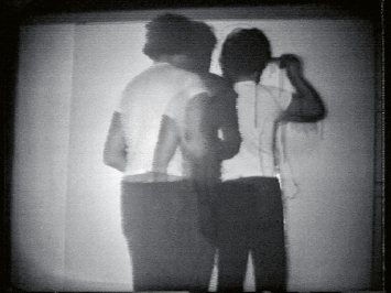 Jean Otth · Limite E (aus der Serie ‹Limites›), 1973, Video, s/w, Ton, 10'14'', Musée cantonal des Beaux-Arts, Lausanne.Videostill: Atelier für Videokonservierung, Bern