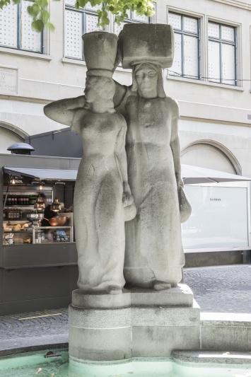 Wilhelm Meier, Globusbrunnen, 1941, Kunst im öffentlichen Raum der Stadt St.Gallen, Fotografie: Anna-Tina Eberhard, St.Gallen