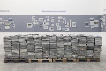 Gustav Metzger,‹Oeuvres sur papier›, Circuit, Lausanne 2018 (Ansicht des zweiten Kapitels der Ausstellung‹Massenmedien›, 1972-2018.Foto: Circuit