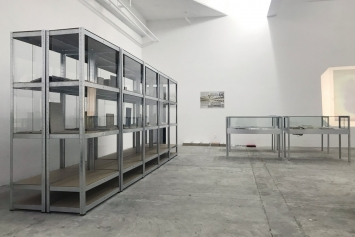 Gustav Metzger,‹Oeuvres sur papier›, Circuit, Lausanne 2018 (Ansicht des dritten Kapitels der Ausstellung‹Bibliothek›, 1941/1942-2018.Foto: Circuit