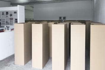 Gustav Metzger,‹Oeuvres sur papier›, Circuit, Lausanne 2018 (Ansicht des ersten Kapitels der Ausstellung‹In Memoriam›, 1959-2018.Foto: Circuit