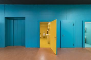 Harald F. Müller,Wirtschaftsräume - Naturräume - Farbräume, 2015, Kunst im öffentlichen Raum der Stadt St.Gallen, Fotografie: Anna-Tina Eberhard, St.Gallen