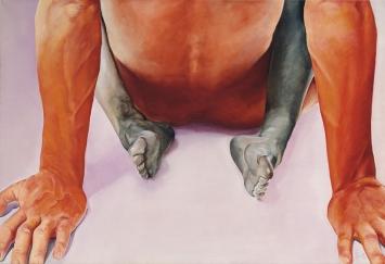 Joan Semmel,Ohne Titel, 1972, Öl auf Leinwand, 118,7 x 174,6 cm, Sammlung Grażyna Kulczyk© ARS, NY und DACS, London, 2018 / ProLitteris, ZürichBild mit freundlicher Genehmigung von 2018 Christies Images Limited