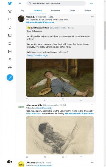 Kunstmuseum Basel,#MuseumMoodsOfQuarantine, Tweet, 12.01.21