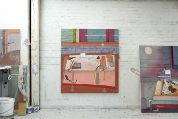 Fabian Treiber, Rolling Cart with Flower, 2020, Atelieransicht