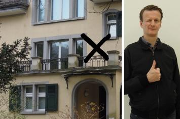 Ralf Keller, Mitarbeiter Museum Bellpark, Remake einer Kunstaktion von Jan Dibbets, 24.3.2020