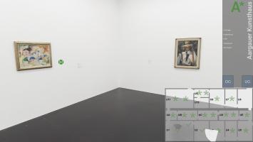 Aargauer Kunsthaus, Virtueller Rundgang durch die Sammlungspräsentation 2020, U3, mit einem Werk von Alice Bailly (1872–1938) und von Fritz Baumann (1886–1942)