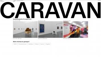 Aargauer Kunsthaus, Webplattform CARAVAN, Startseite