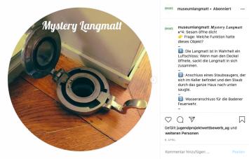 Instagram-Rätsel ‹Mystery Langmatt›: «Welche Funktion hatte dieses Objekt?», Screenshot (Instagram: @museumlangmatt)