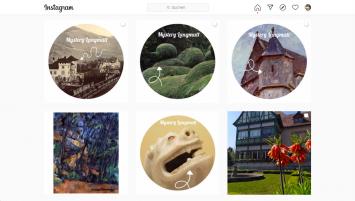 Instagram-Rätsel ‹Mystery Langmatt› und ‹Digitale Sammlung›, Screenshot (Instagram: @museumlangmatt)