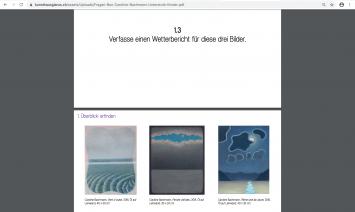 Fragen-Box für Kinder zu ‹Caroline Bachmann: 58 av. J.–C.›, Kunsthaus Glarus, Screenshot