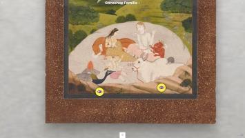 ZOOM – Virtuelle Entdeckungsreisen im Museum Rietberg ‹Indien: Shiva, Ganesha und Co.›, Interaktive Bilder, Ganeshas Familie.