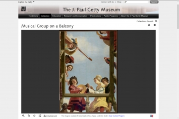 Getty Museum, Collection, Gerrit van Honthorst,Musical Group on a Balcony,1622.