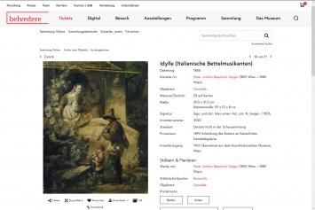 Belvedere, Sammlung Online, Peter Johann Nepomuk Geiger,Idylle,1855.