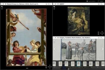 Mirador-Viewer mit Werken des Getty Museums, des Belvedere und komplettes Digitalisat der HandschriftChristine von Pisan, Epitre d'Othea,um 1460, Cod. Bodmer 49 von e-codices.