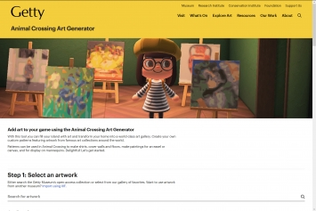Getty,Animal Crossing Art Generator,einTool, um basierend auf der IIIF-Technologie Kunstwerke aus beliebigen Sammlungen in ein Game einzubinden.