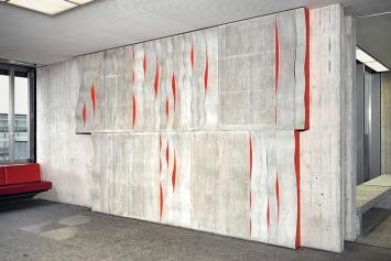 Elisabeth Leuenberger · Systematische Schwingungen, 1973, Beton, Holz, ETH Hönggerberg