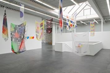 Céline Manz, fold; Simulationismus – Limited Edition, 2017-2019,Regionale 21, Ausstellungsansicht Kunsthaus Baselland 2020.Foto: Gina Folly