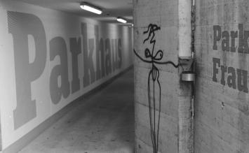 Harald Naegeli, Ohne Titel, 2018, Frauensteinmatt, Eingang Artherstrasse