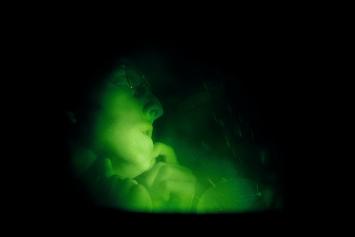 First Hologram Series: Making Faces B, 1968, Holographisches Bild auf Glas, 20,3x25,4cm, EmanuelHoffmann-Stiftung, Geschenk der Präsidentin 2013, Depositum in der Öffentlichen KunstsammlungBasel ©ProLitteris.Foto: Bisig & Bayer