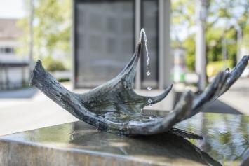 Elisabeth Nembrini, Ohne Titel (Trinkbrunnen), 2013, Kunst im öffentlichen Raum der Stadt St. Gallen,Fotografie: Anna-Tina Eberhard, St. Gallen