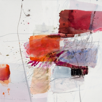 "Greet helsen ""Magnolie II"" 100 x 100 cm Acryl auf Leinwand"