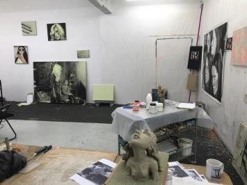 Nina Childress, Atelier, 2020