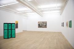 Beatriz Gonzalez, Desplazamientos forzados y paisajes elementales, 2017, Ausstellungsaufnahme Galerie Peter Kilchmann, Zürich