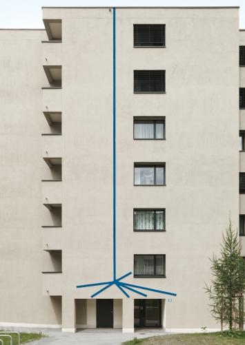 Karim Noureldin, «Up», 2018, Wohnsiedlung Paradies, Fachstelle Kunst und Bau, Amt für Hochbauten, Stadt Zürich, Foto: Stefan Altenburger