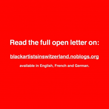 Offener Brief Schwarzer Künstler*innen und Kulturschaffenden in der Schweiz