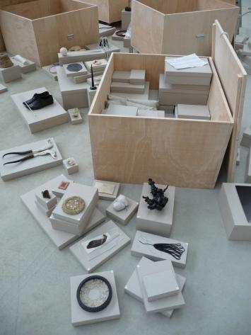 Julia SteinerFragmente der Welten, 2005 - 2016different materials, boxes220 objects, size vary with installation