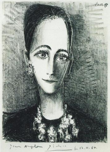 Pablo Picasso, Portrait of Angela Rosengart, 1964, Notre Dame De Vie, Lithographie, 62 x 62 cm