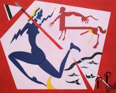 Pavel Pepperstein, Centaur and Nymph, 80 x 100 cm, acryl on canvas, 2016, CourtesyNahodka Arts Ltd