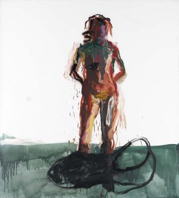 Cordia (Cordia ist Soziologin, jetzt forscht sie in Wurzn) 1991 oil on canvas 220 x 200 cm