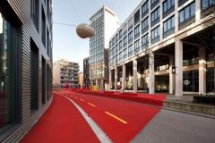 Atelier Carlos Martinez,stadtlounge II,Erweiterung der stadtlounge im Bereich Gartenstrasse. Foto: Hannes Thalmann
