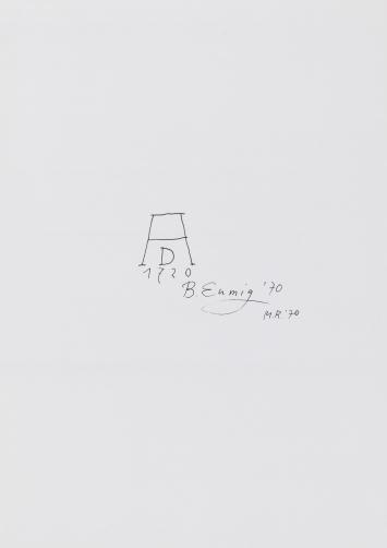 Markus Raetz, Signierte Signaturen, 1970, Offsetdruck auf Papier, 29.7 x 20.9 cm, Kunstmuseum Luzern, Schenkung Sammlung Toni Gerber
