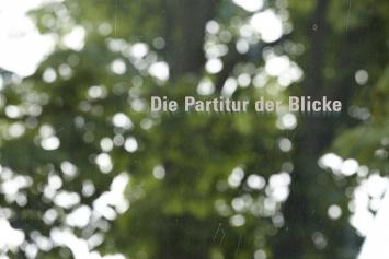 Yves Netzhammer, «Das Instrument des Horizontes / Die Partitur der Blicke», 2013,Gravur in Panoramascheibe©Ralph Feiner
