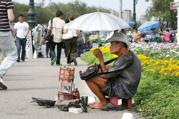 Bangkok (Thailand) Sanam Chai Road, Sonntag, 29.3.2020.Foto: SH