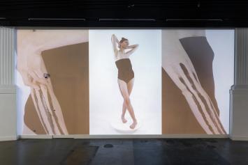 Lotta Gadola, Traces in Sight, 2021, Ausstellungsansicht Kunsthalle Luzern.Foto: Kilian Bannwart